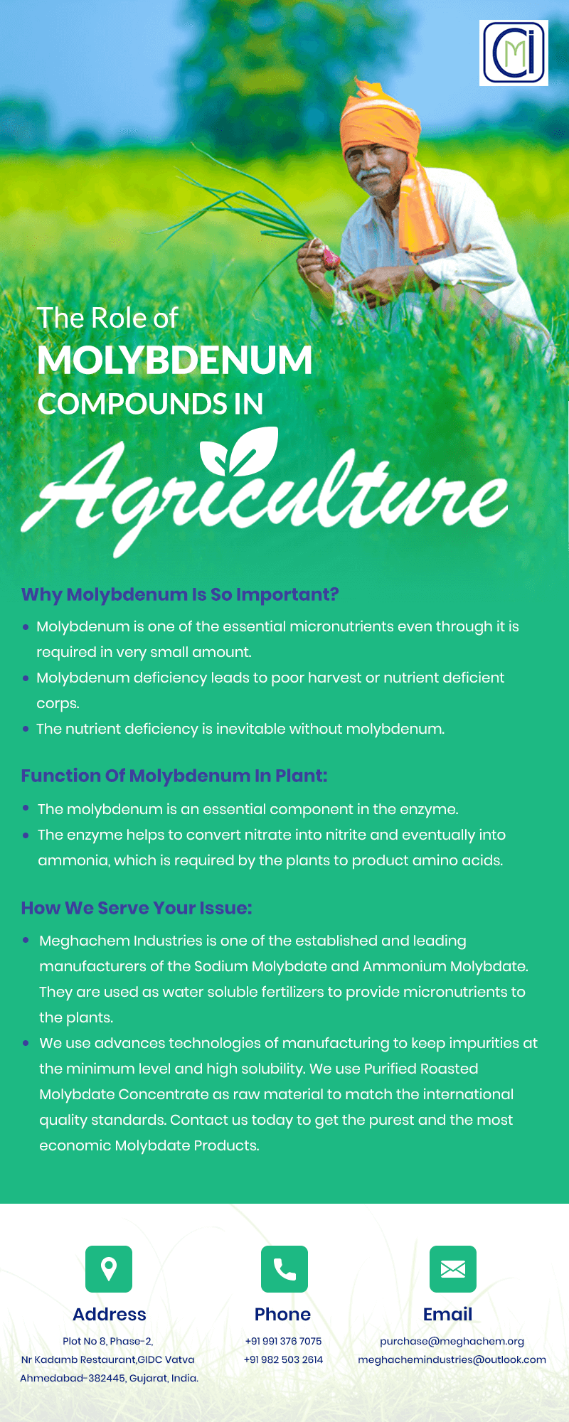 The Role of Molybdenum Compounds in Agriculture
